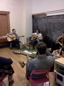Scott's songwriting class @ Brooklyn Brainery.